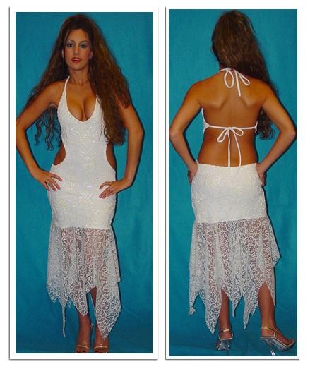 Выбор свадебного платья. Открытое платье.