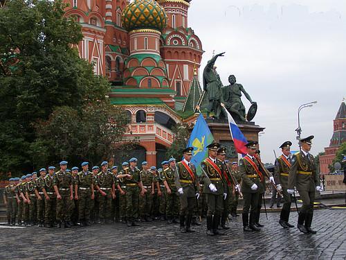 День ВДВ. Парад на Красной площади.