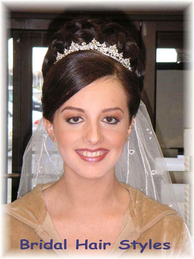 Свадебная прическа бублик - 051a